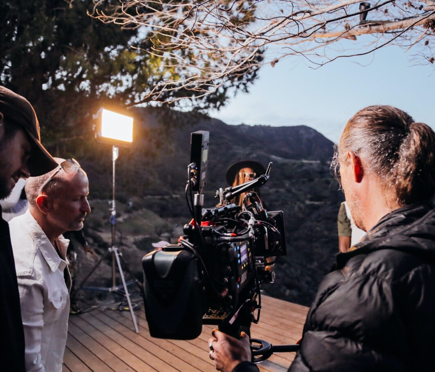 film-on-location-outside-people-camera